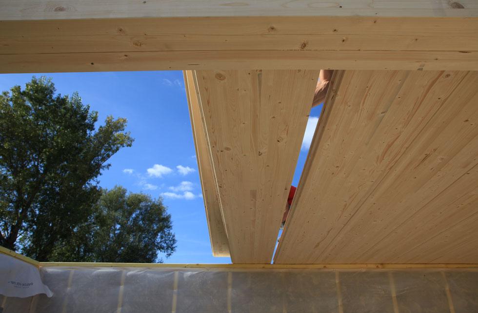 Les planchers pobi sont en bois lamell coll issu de for t co g r es avec u - Assemblage lamelle colle ...