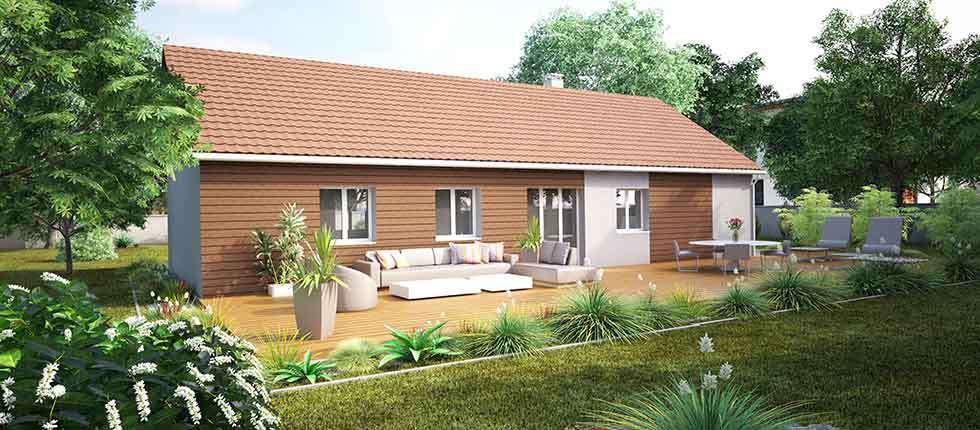 Plan 3D, modélisation et descriptif du kit de maison Lauan à partir de 21 348