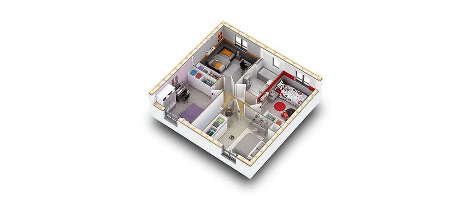 plan interieur 3d etage kit kasai pobi