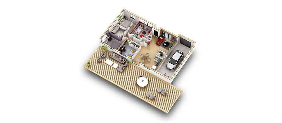 Plan 3d Mod Lisation Et Descriptif Du Kit De Maison Lauan