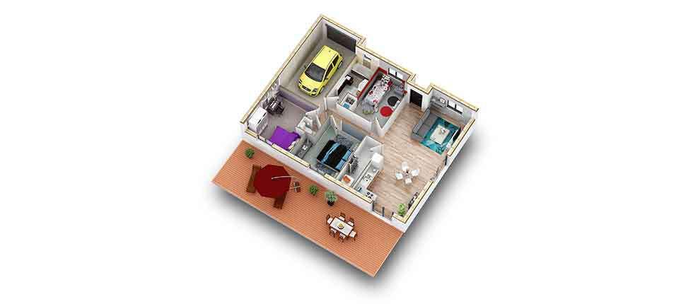 plan interieur 3d maison ovoga pobi