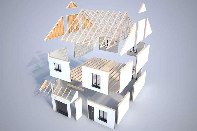 Plan 3d mod lisation et descriptif du kit de maison lati for Modelisation maison 3d
