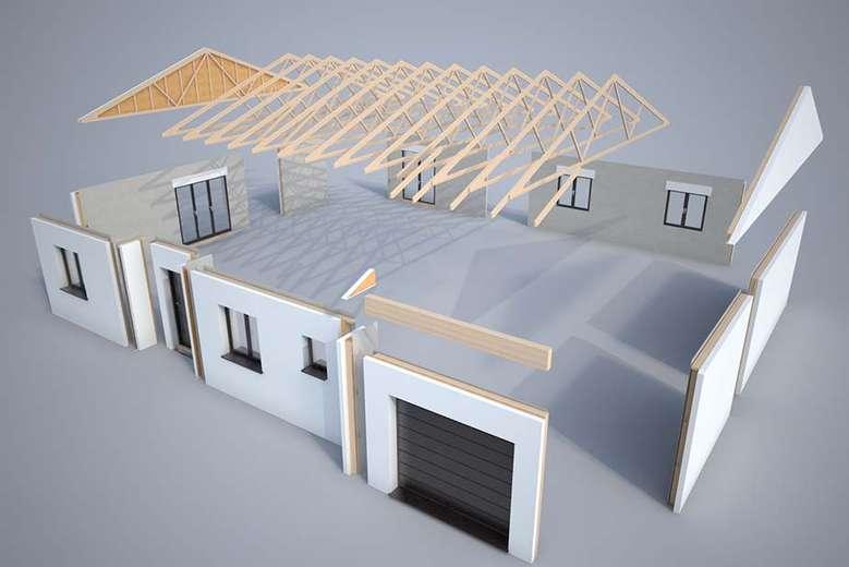 Plan 3d mod lisation et descriptif du kit de maison ovoga for Modelisation maison 3d