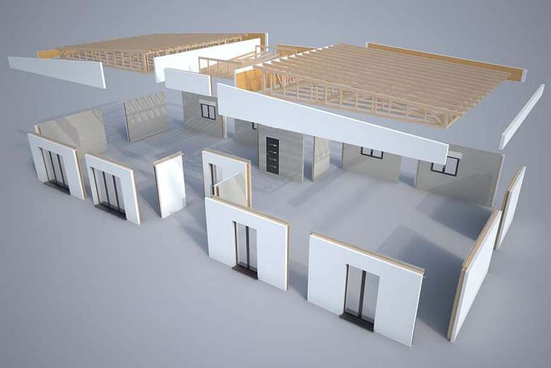 modelisation 3d kit maison teck