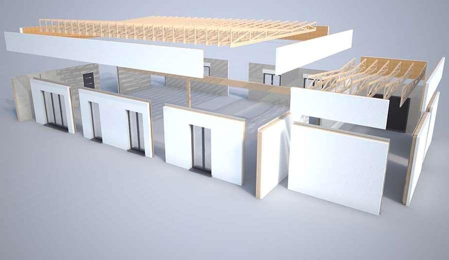 Plan 3d mod lisation et descriptif du kit de maison tiama for Modelisation maison 3d