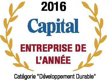 Natilia entreprise de l'année par Capital, catégorie développement durable