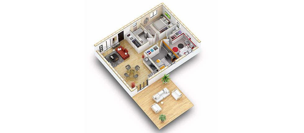 plan interieur 3d maison ako pobi
